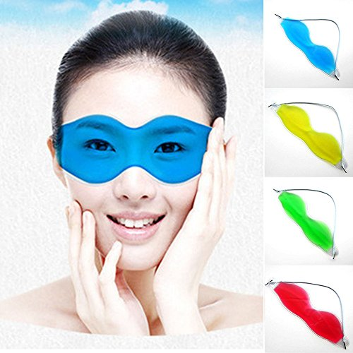Tuscom Gel Eye Mask Beauty Ice Goggles Cold Pads Mask for Puffy Eyes and Dry Eye, Cooling Eye Ice Masks for Removing Dark Circles and Relaxing Eye Fatigue, Great Therapy Treatment (Random Color) ()