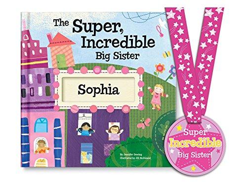 Personalized Big Sister Gift Newborn New Baby Hospital Gift, Big Sister Tshirt Alternative (Mcdonald Jill Personalized)