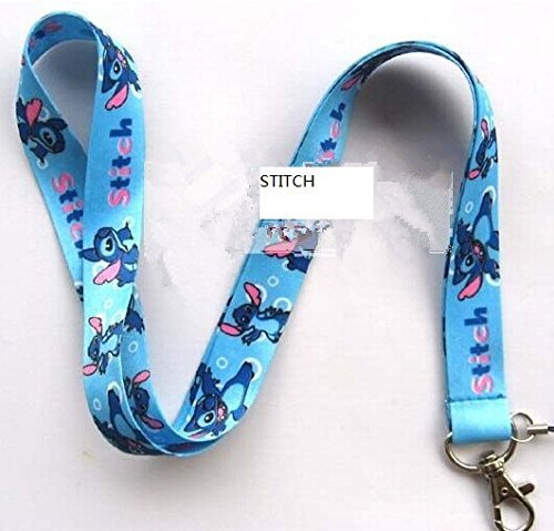 (Stitches and lilo Lanyard keychain Charm ID Holder)