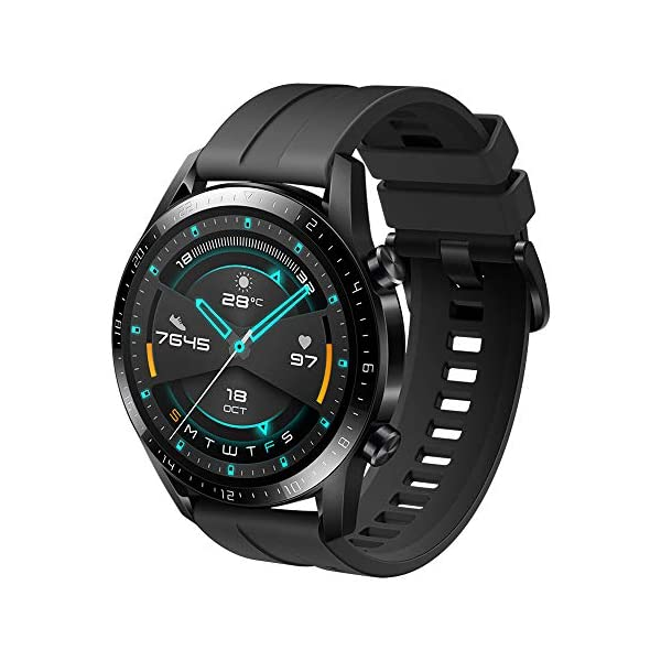 51QaX wCLpL HUAWEI Watch GT 2 Sport (Matte Black, 46mm, 2 Weeks Battery, Music Playback, Answer Calls (with Phone Connection), 5ATM…