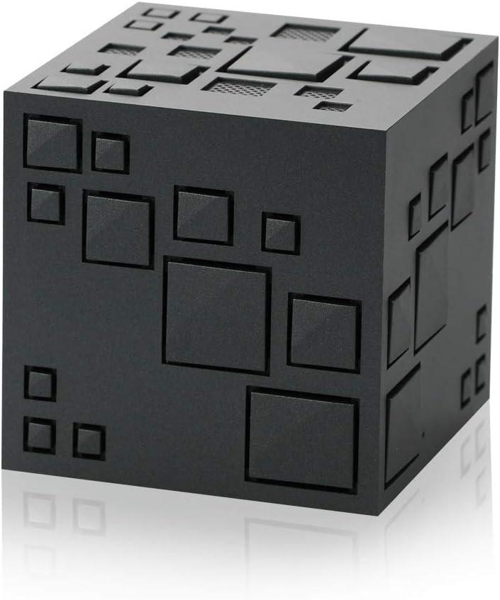 NOMEN Cubo Mágico De Rubik Altavoz Bluetooth, Altavoces Inalámbricos Portátiles con Luces Integradas En El Micrófono, Llamada Manos Libres, Línea AUX, Tarjeta TF, Sonido HD Y Bajo,Black