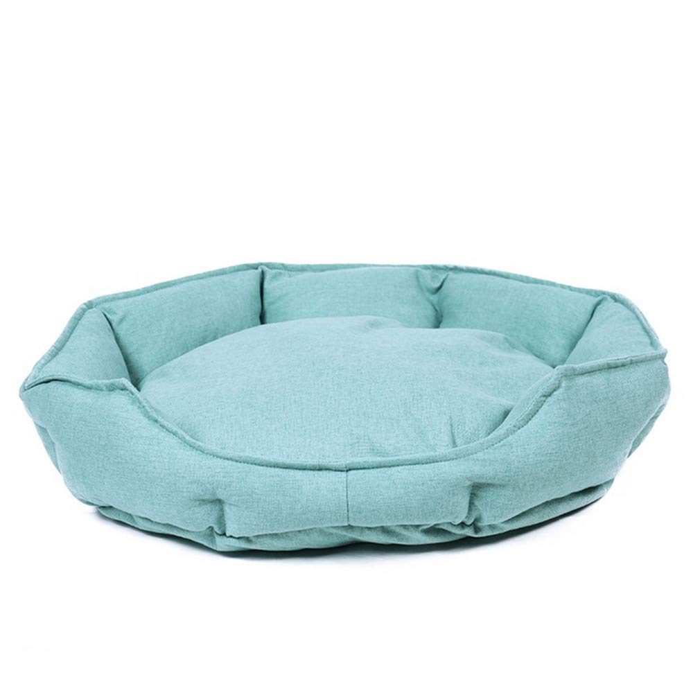 A LWuwenw Round DoubleSided Dog Bed Mat Kennel Super Soft Pet Dog Puppy Warm Bed House Cozy Cat Nest Bed Pet House For Small Medium Dogs,L,A