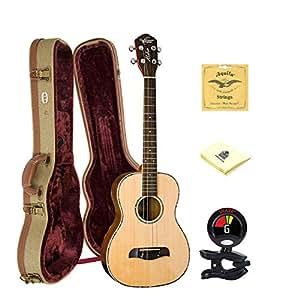 oscar schmidt ou53 baritone ukulele solid spruce grover tuners w hard case tuner. Black Bedroom Furniture Sets. Home Design Ideas