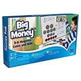 EDUCATIONAL INSIGHTS BIG MONEY MAGNETIC COINS AND BILLS (Set of 3)