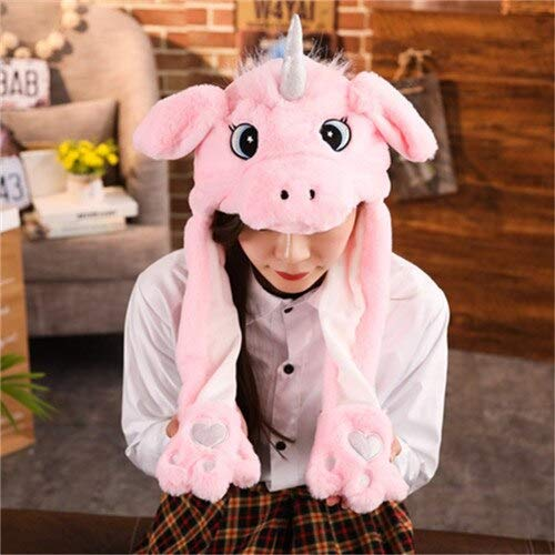 11 Styles Plush Rabbit Dog Pig Ear Hat Pinching Moving Ears Animals Caps Girls Cosplay Performance Party Must Have Items Funny Gifts The Favourite Comic 4T Superhero Unbox Yourself Must Have Baby It