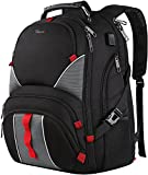 Large Laptop Backpack,High Capacity TSA Durable Luggage Travel Backpacks,Water Resistant Extra Big Student Business School Backpack for Women Men with USB Port, Fits 17 inch Laptop & Notebook,Black