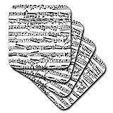 3dRose Musical Notes - Vintage Sheet Music - Black