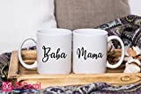 Baba and Mama - printed Islamic Mugs Gifts for Muslim Fathers and Mothers - Personalized Islamic weeding gift, Muslim mugs coffee Mugs Couple Mugs