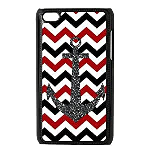 HIJULI (Anchor Chevron) Best Hard Cover Case for Ipod Touch 4(HJH002896)