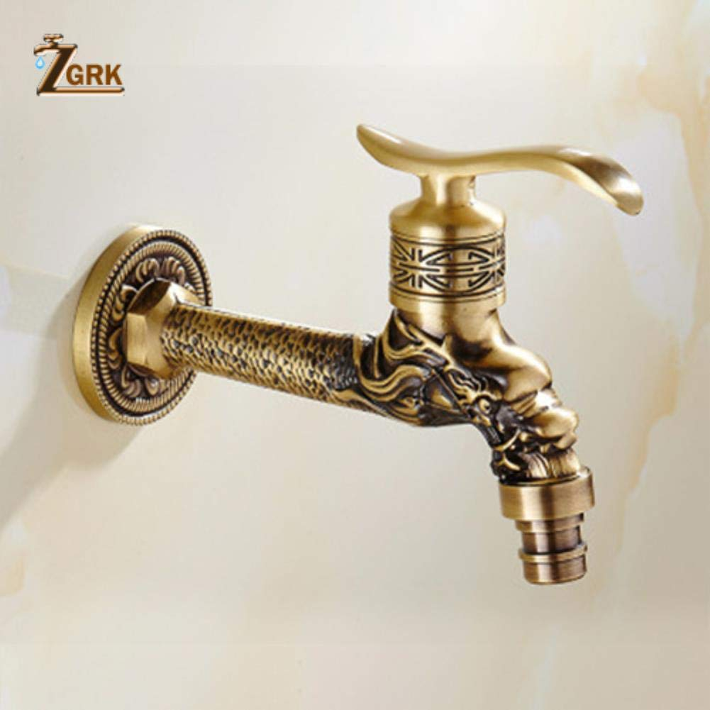ZGRK Vintage Antique Brass redary Single Level Single Hole Kitchen Sink Mixer Tap Bathroom Sink Mixer Taps bathroom furniture fitting A-058