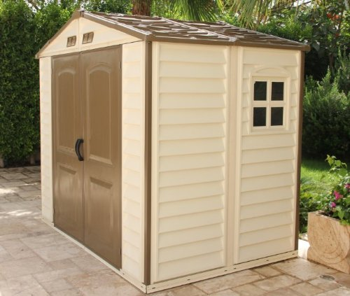 Storeall 8 x 6 vinyl storage shed with foundation garden for Garden shed 8x5