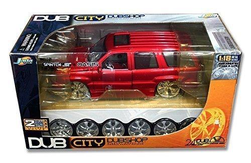 - Jada 1:18 Dub City Dubshop Model Kit - 2002 Cadillac Escalade Diecast Model Car