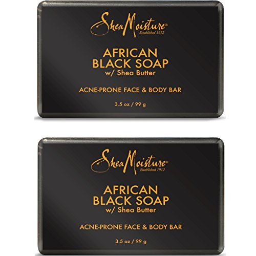 - Shea Moisture African Black Soap Bar, 3.5 Oz, Pack of 2
