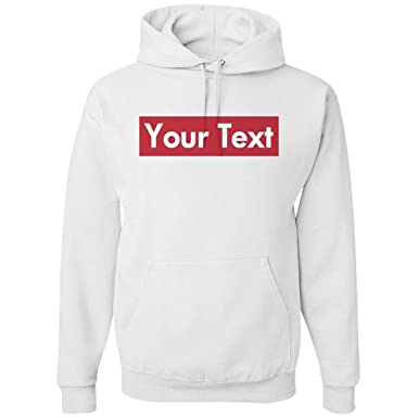 1e422bb8c50c Amazon.com  Custom Supreme Your Text Here  Unisex Gildan Heavyweight Hoodie   Clothing