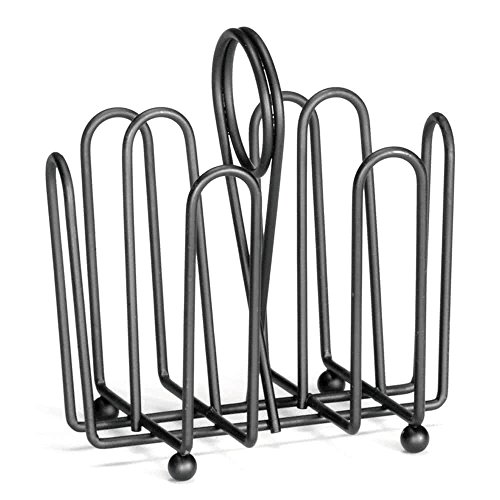 597CBK Black Wire Jelly Packet Rack - 12/Pack By TableTop King (Wire Packet Rack)