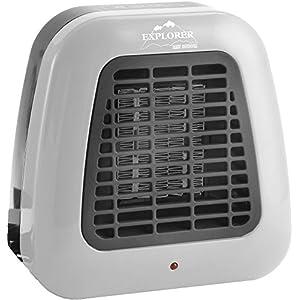 Explorer Fan Heater 230 V / 500 Watt Automatic Tilt Stop Fan Heating Caravan Camping Awning Caravan Boat 15.5 x 15 x 7.3 cm