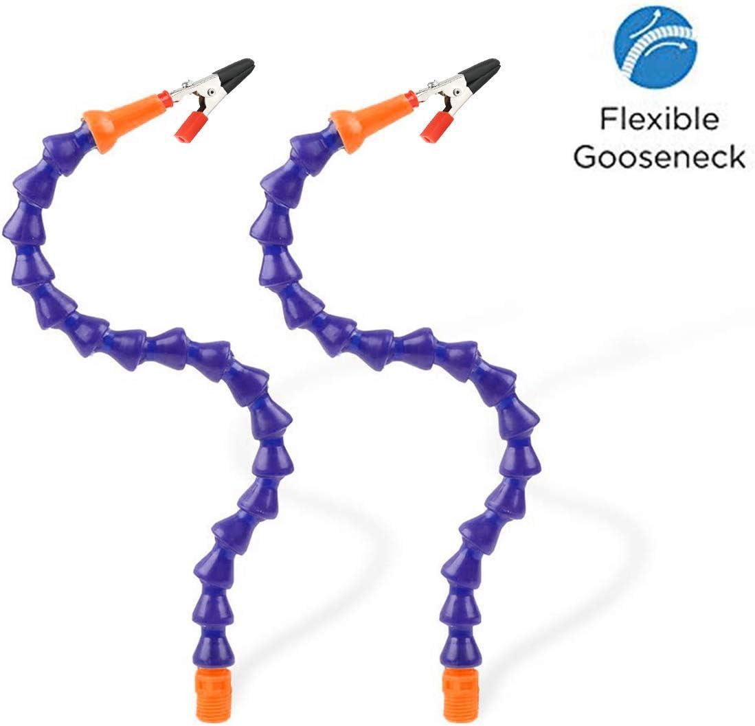 Support multifonction troisi/ème main secourable support mains libres pour travaux d/'/électronique et de soudure Deux bras flexibles, espace maximum r/églable dagrafe de pincement de 5cm