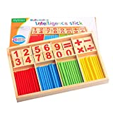 Children Counting Stick Calculation Math Educational Toy Wooden Number Cards and Counting Rods with Box