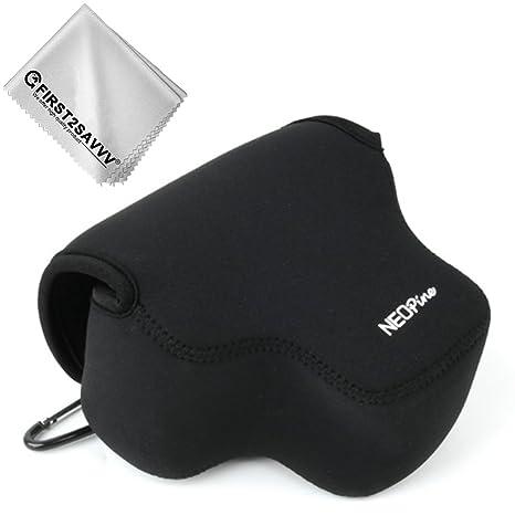 Negro Funda Cámara Reflex Neopreno Protectora para Fujifilm X-T3 ...