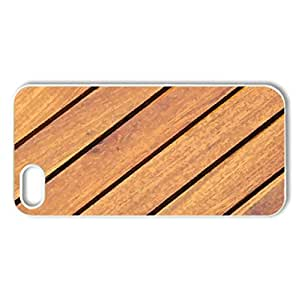 Wooden - Case Cover for iPhone 5 and 5S (Watercolor style, White)
