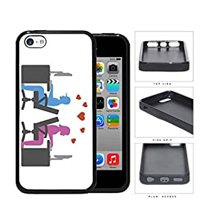 Social Media Computer Nerd Lovers Rubber Silicone TPU Cell Phone Case Apple iPhone 5c