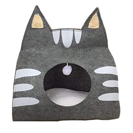Juman634 Cat Sleeping Pack Pet Cave Fieltro Gato de Dibujos ...