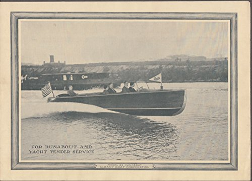 Albany Boat Corporation Model 23 Runabout Yacht Tender sales folder 1920s