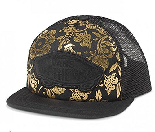 (Vans Beach Girl Trucker Hat, Black/Gold, One Size)