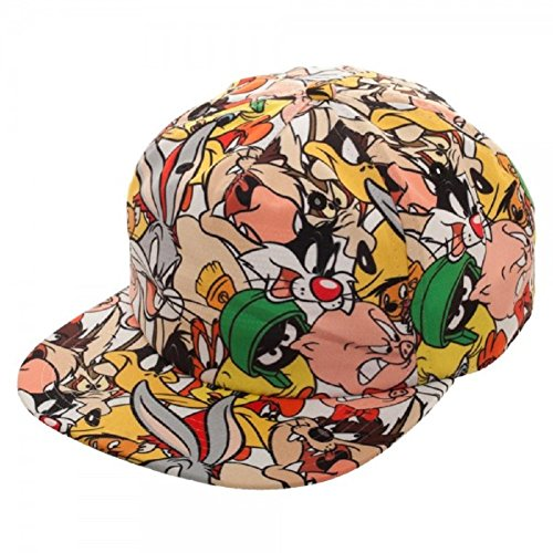 (New Horizons Production Looney Tunes All Over Print Sublimated Characters Adjustable Snapback)