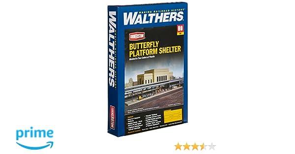 Walthers Cornerstone HO Scale Building Kit Butterfly Station Platform Shelter 4