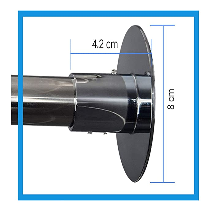 LXYYSG Duschvorhangstangen Multi-Gr/ö/ße Edelstahl Oval Stange Duschstange Mit Einfacher Montage f/ür Duschvorhang mit Gleitsystem