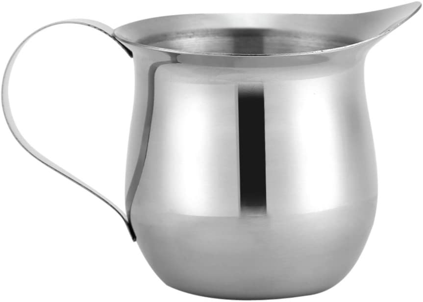 Milk Frothing Cup, Frothing Stainless Steel Milk Pitcher, Multipurpose Milk Frothing Pitcher Cup for Home, Office, Cafe (90ml / 3oz)