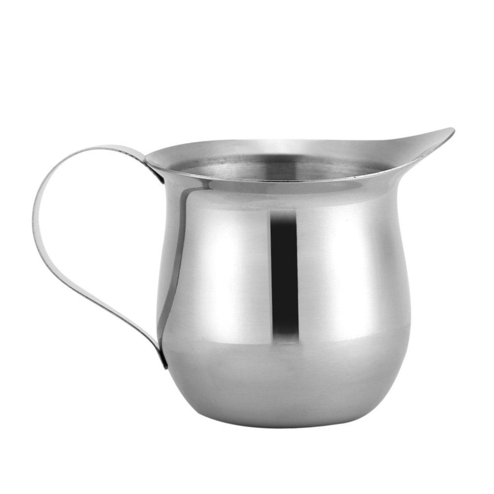 90/240ml Multipurpose Stainless Steel Milk Frothing Pitcher Cup Latte Art Kitchen Jugs Mug(240ml/8oz)