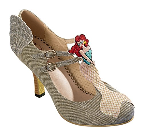 Dancing Days , Damen Mary Jane Halbschuhe Gold