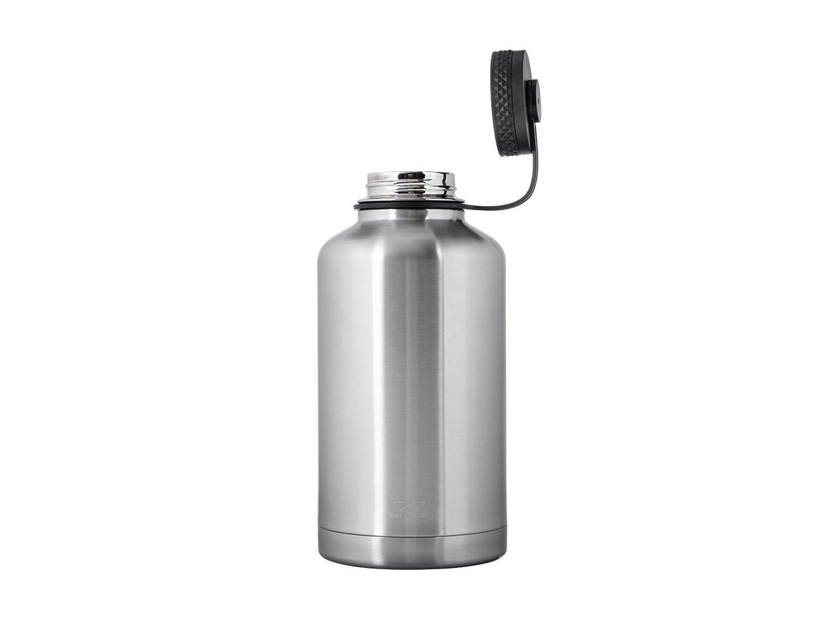 SweatProof Black Pure Outdoor Collection 115321 Insulated Monoprice Vacuum Sealed Wide Mouth Water Bottle 32oz Hot and Cold | BPA Free