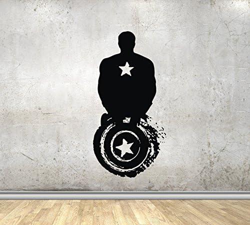 Marvel Avengers Logo-vinyle Wall Art Decal autocollant silhouette Garçons Chambre Enfant