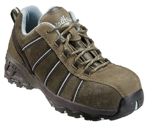Nautilus Safety Footwear Women's N1758 Composite Toe Sneaker,Olive,9 W US by Nautilus Safety Footwear