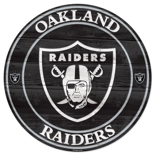 Raiders Wood Sign - NFL Oakland Raiders Wood Sign, 19.75