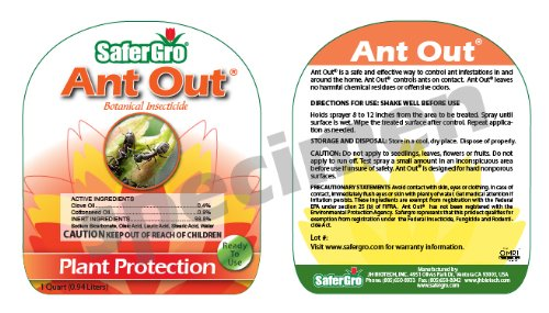 Safergro Ant Out Certified Ready to Spray Organic Ant Killer, 32-Ounce