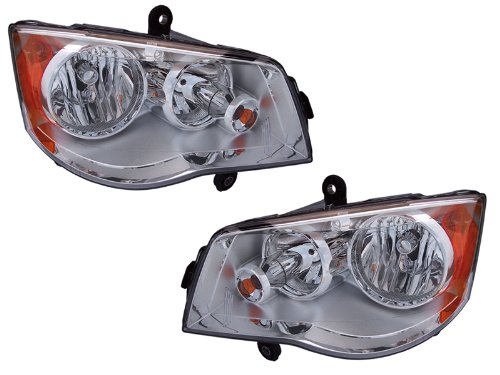 Chrysler Town & Country Headlights Oe Style Halogen Type Headlamps Driver/Pas...