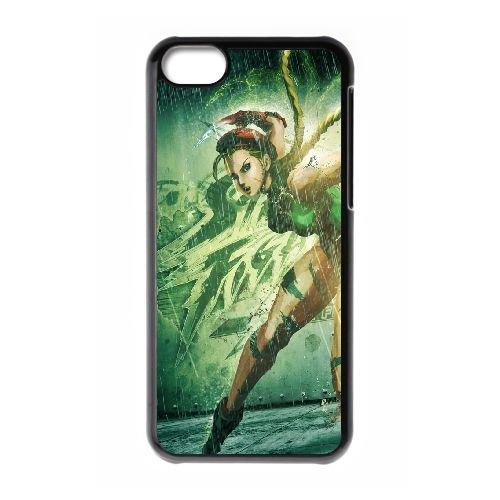 Street Fighter X Tekken, Cammy, Girl, Legs, Tattoo, Hand coque iPhone 5c cellulaire cas coque de téléphone cas téléphone cellulaire noir couvercle EEECBCAAN04421