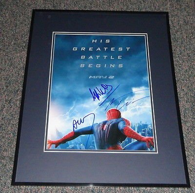 Amazing Spiderman 2 Signed Framed 11x14 Photo Poster AW A Garfield A Arad M Webb