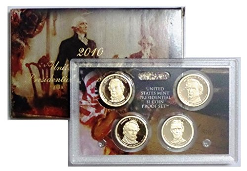 2010 S Presidential 4-coin Proof Set w/Box & COA Proof