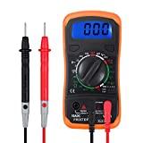 Proster Digital Multimeters Mini Digital Multimeter Pocket Tester Meter DMM DC AC Current Voltmeter Ohm with Backlight LCD