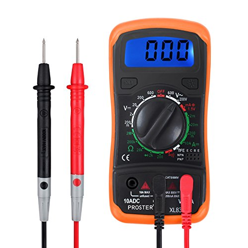 Proster Digital Multimeters Mini Digital Multimeter Pocket Tester Meter DMM DC AC Current Voltmeter Ohm with Backlight LCD by Proster