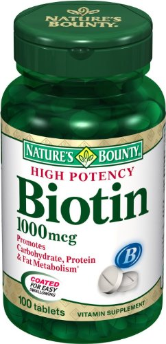 Natures Bounty Biotin 1000mcg Tablets