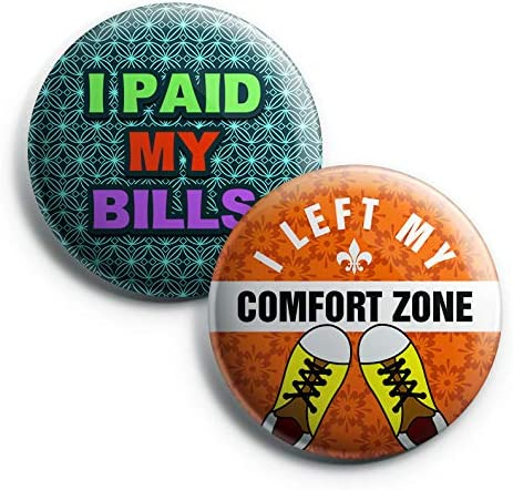 Retro Comic Pin-Back Buttons Lockdown Teen Hip Funny Zoom Accessory