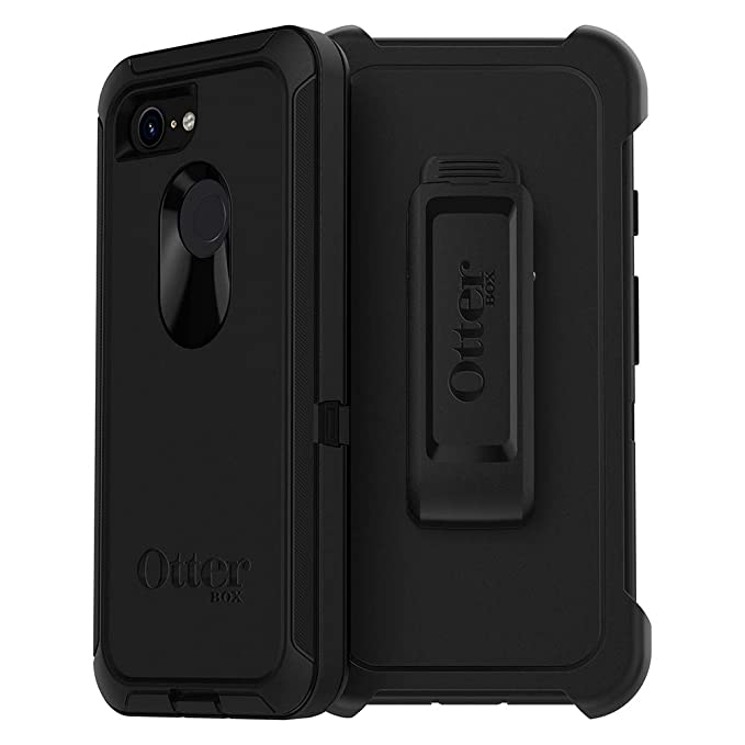 separation shoes d49fe b9981 OtterBox Defender Series SCREENLESS Edition Case for Google Pixel 3 -  Retail Packaging - Black