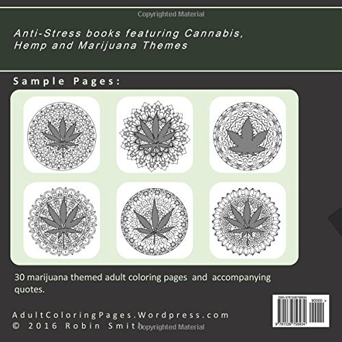 Reefer Madness Mandala And Quote Coloring Book For Adults Mellow