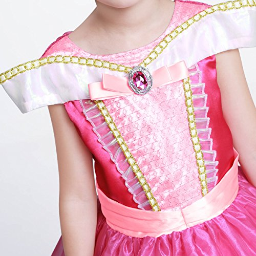 LOEL Girls New Princess Party Costume Aurora Long Dress